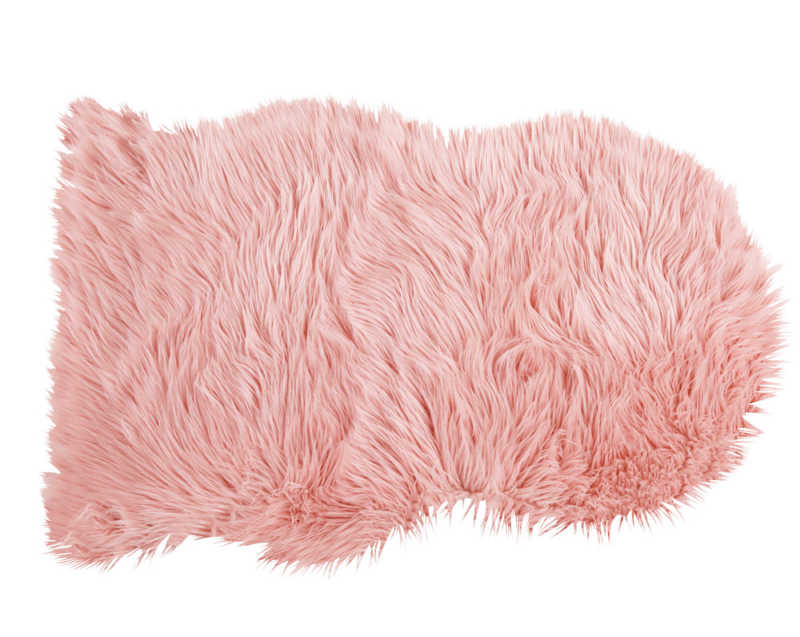 S lection shopping 29 tapis canons lifestyle mode d co maman diy - Tapis fausse fourrure rose ...