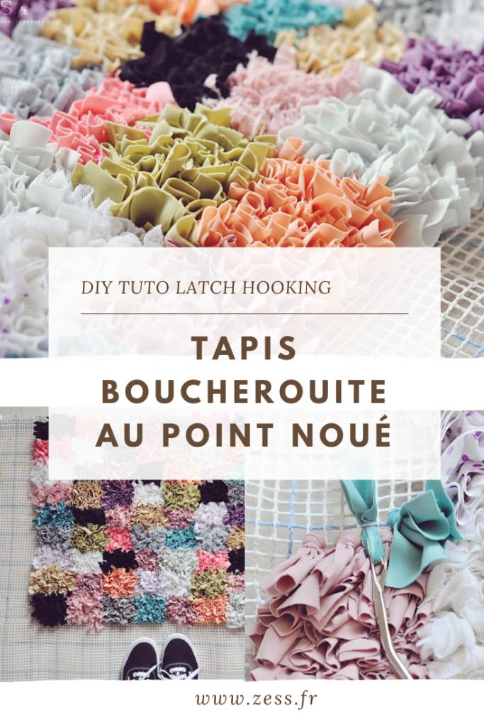 DIY / tuto : le tapis boucherouite au point noué (latch hooking)