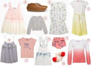 sélection shoping soldes 2014 vêtments petite fille
