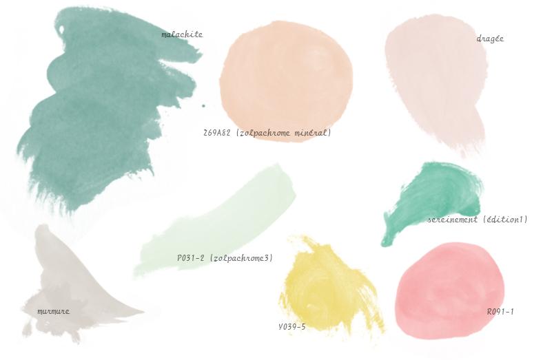 sélection couleur zolpan pastel vintage peinture