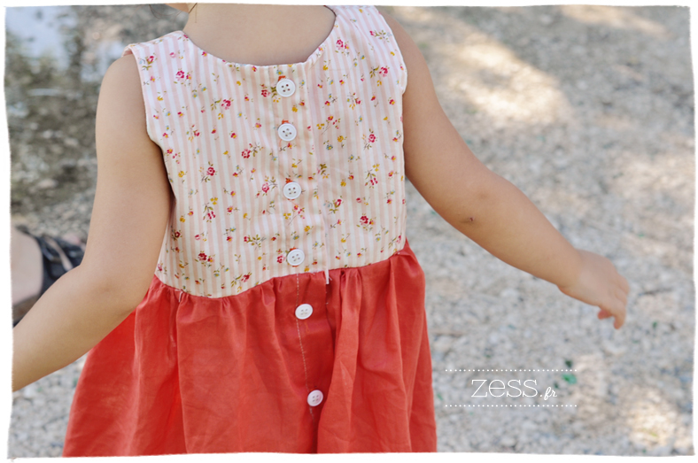 robe couture sewing kid dress liberty