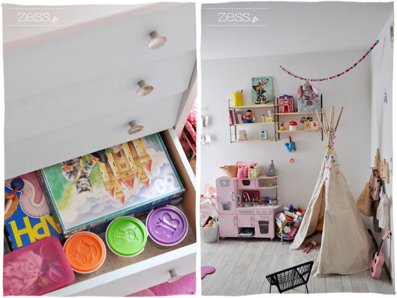 chambre enfant fille vintage tipi cuisine jeux girly design
