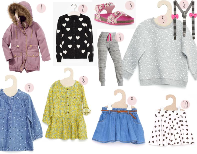 shopping rentrée fille maternelle