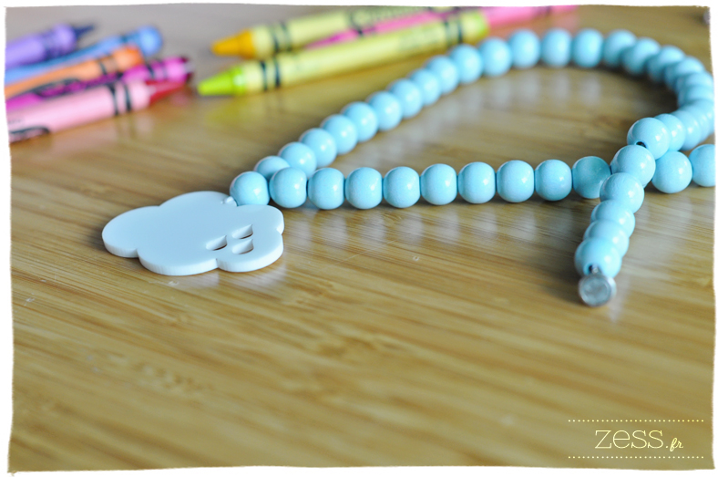 collier bleu nuage sweeties créatrice