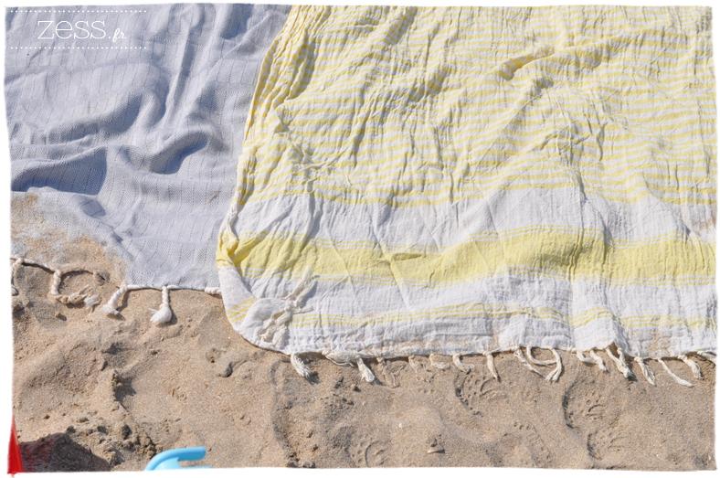 serviettes plage lange