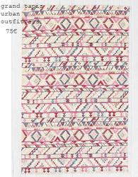 tapis urban outfitters killim geometrique