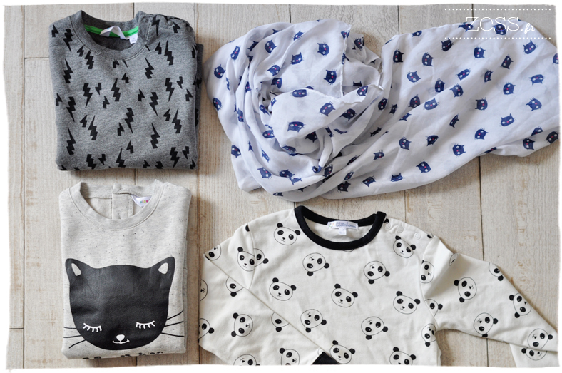 shopping enfant kiabi chat panda look