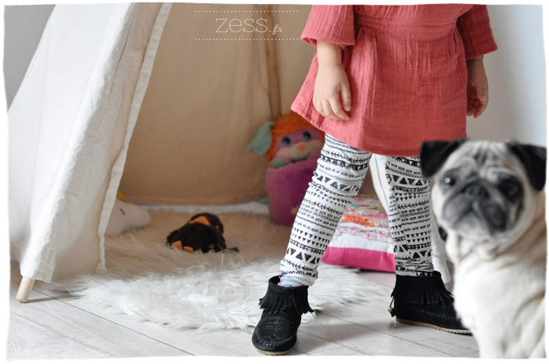 blogokids look tattoo temporaire enfant legging géométrique minnetonka like
