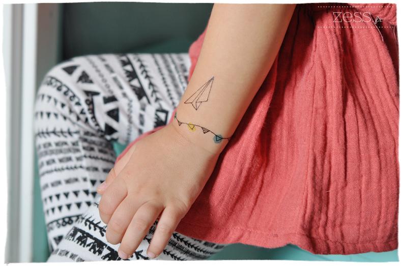 blogokids look tattoo temporaire enfant legging géométrique minnetonka