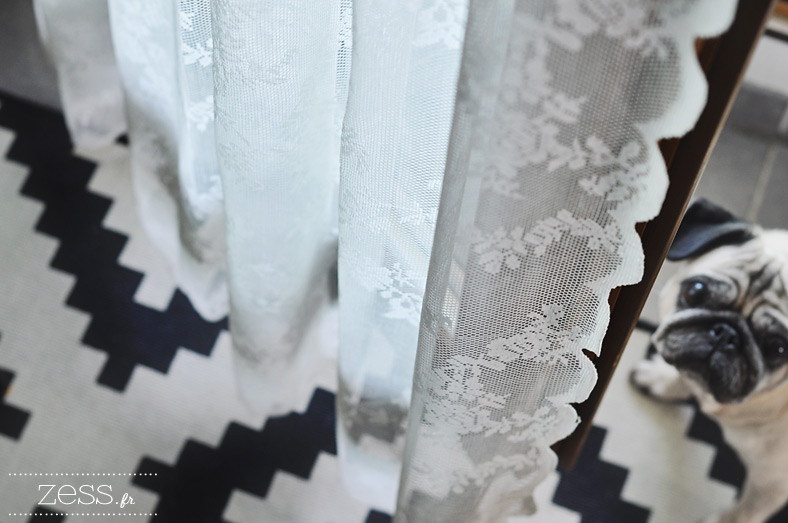 voilage rideau dentelle tapis ikea