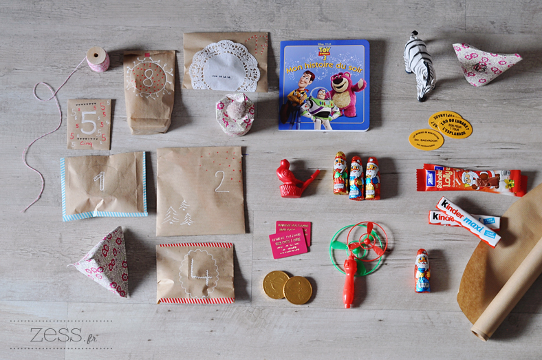 calendrier avent diy enfant surprise cadeaux