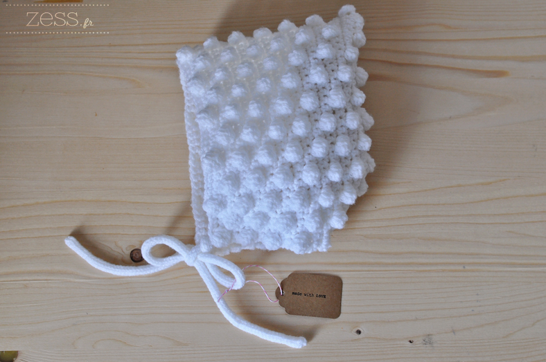beguin pompon crochet bonnet enfant diy
