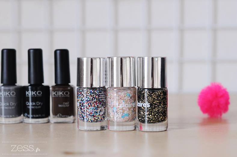 vernis kiko veris à ongles paillettes confetti claire's