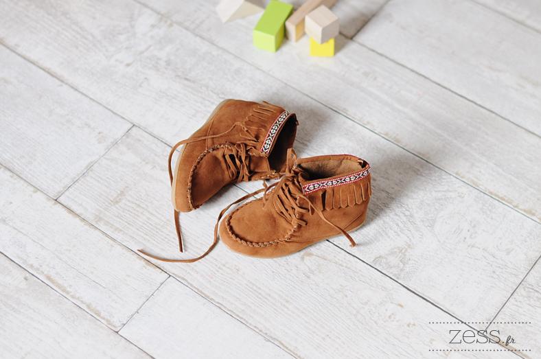 minnetonka like kiabi daim boots franges enfant