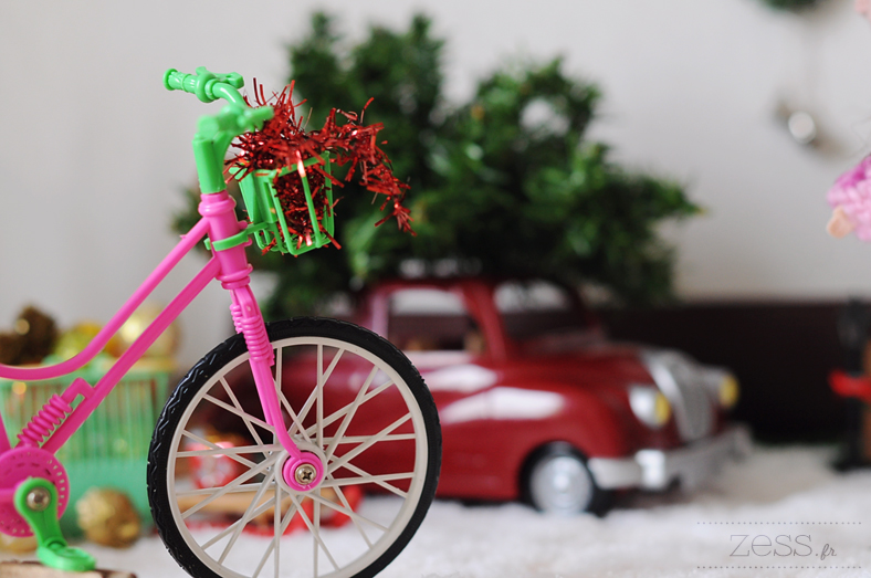 blythe doll poupée noel christmas bike