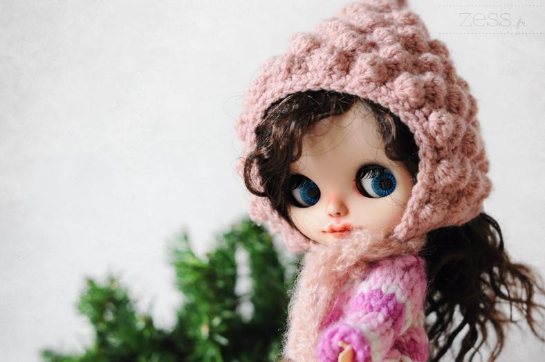 blythe doll poupée noel christmas hat