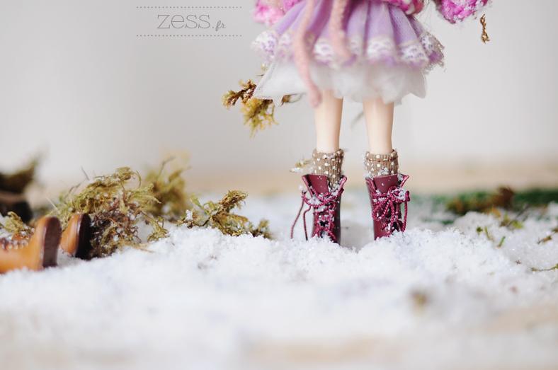 blythe doll snow scene