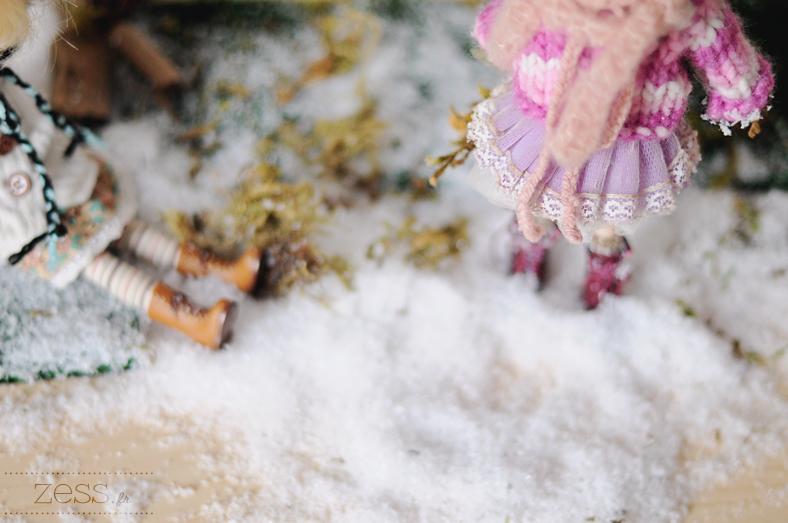 blythe diorama christmas snow scene shooting