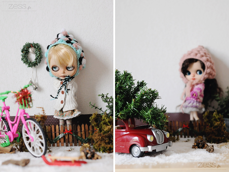 blythe doll christmas photography