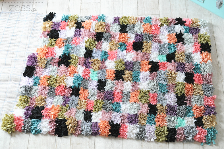 tuto tapis tissu handmade fait main