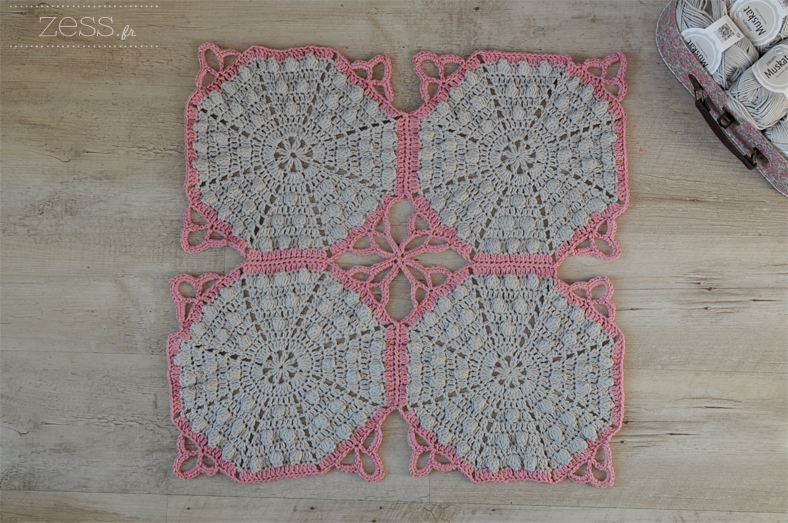 tuto diy plaid crochet lace noppes