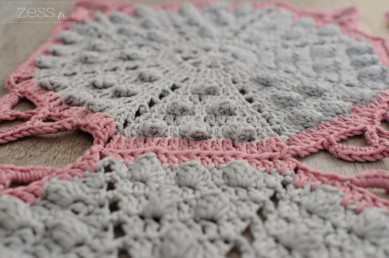 plaid crochet coton drops