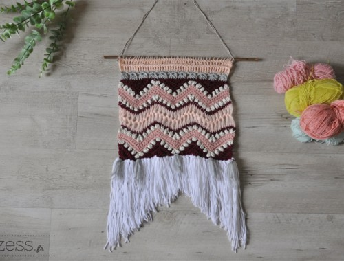 DIY tenture crochet
