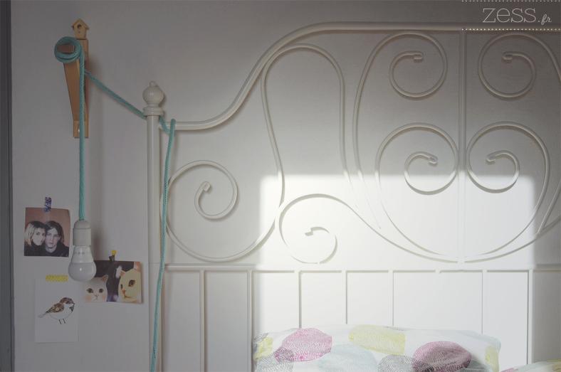 lumière ombre lit chambre