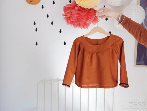 blouse diy enfant couture