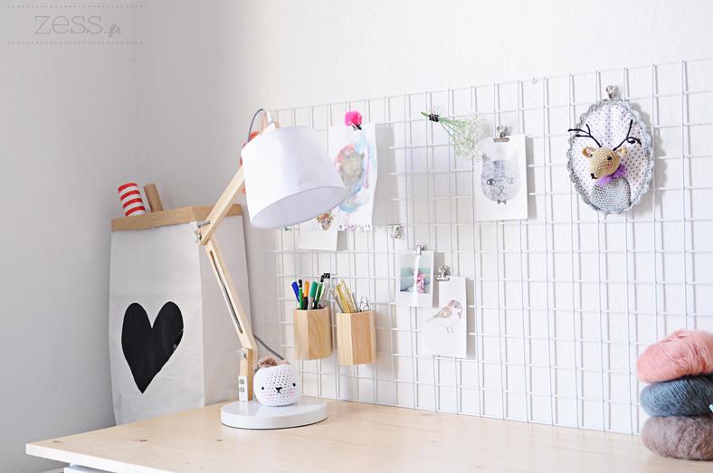 lampe articulé bois bureau blog déco
