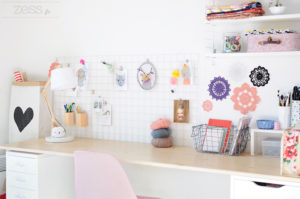 moodboard bureau workspace craft