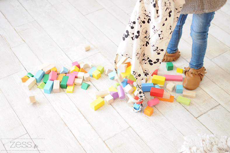 playtime cubes en bois sac mickey