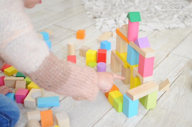 jeu cubes en bois