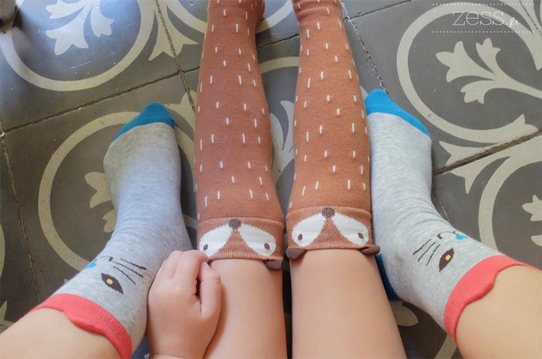 chaussettes montantes renard