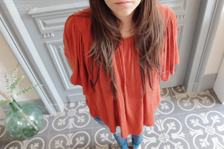 blouse bordeau