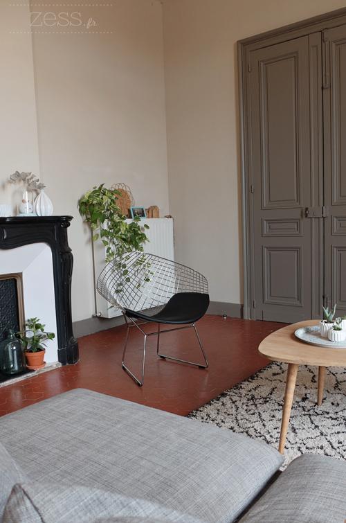 salon tapis berbère vintage