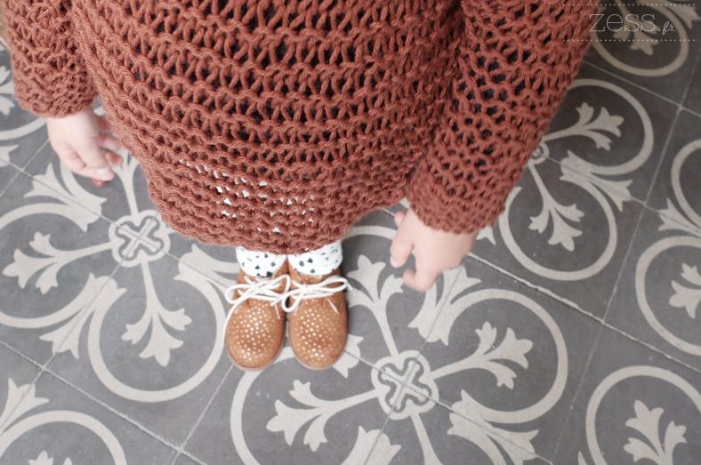diy tricot pull enfant 4ans mousse