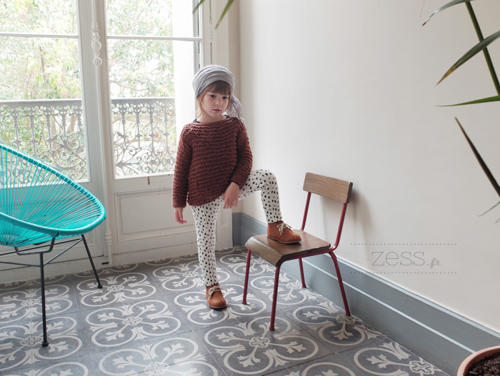 tricot patron pull loose enfant