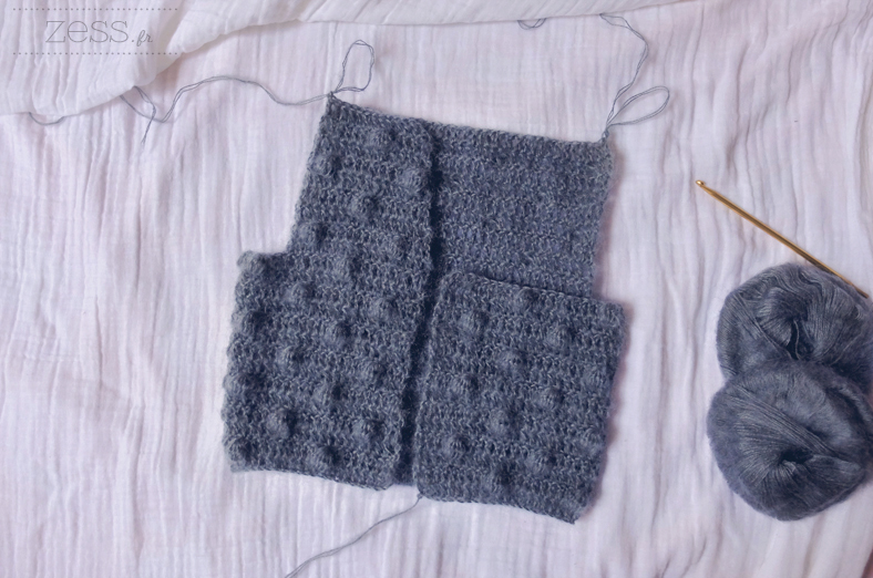 tuto vest popcorn crochet