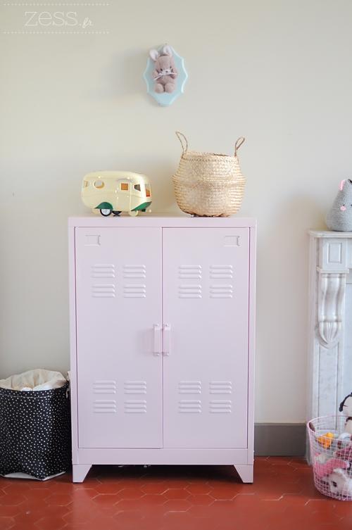 meuble rangement métal chambre enfant