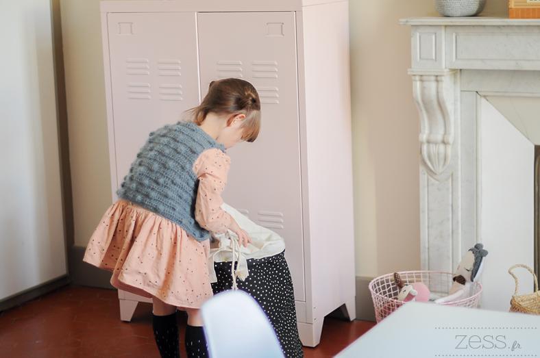 chambre fille vestiaire panier