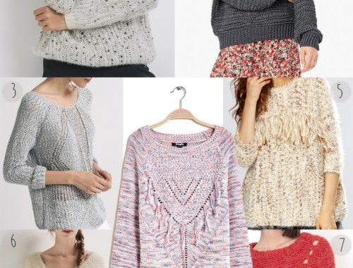 selection shopping pull maille hiver