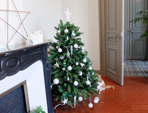 sapin déco simple appartement vintage