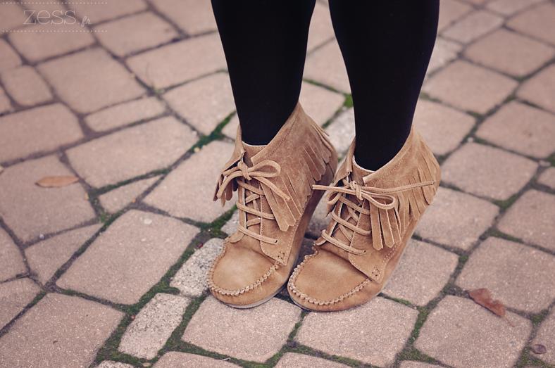 boots à franges daim asos camel marron
