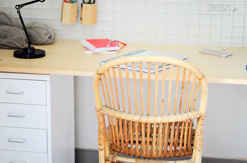 bureau chaise rotin caisson ikea