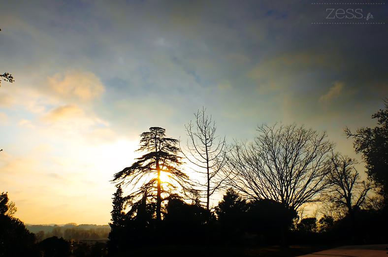 paysage soleil couchant