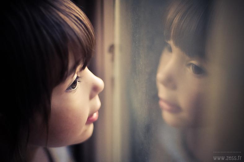 reflet vitre portrait enfant blog maman