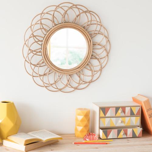 miroir rotin soleil pas cher