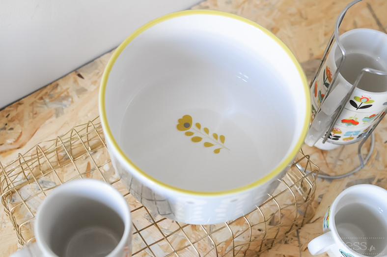 vaisselle retro maisons du monde cuisine tasse saladier