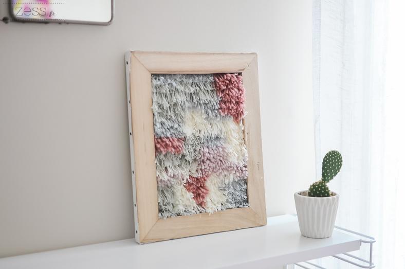 tuto tenture murale laines
